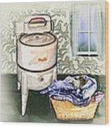 The Laundry Room Wood Print