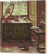 The Lawn Tennis Season, 1881 Wood Print by Mary Hayllar
