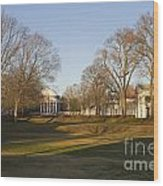 The Lawn University Of Virginia Wood Print