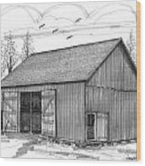 The Lawrence Barn Wood Print