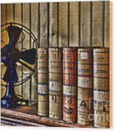 The Lawyers Desk Wood Print