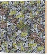 The Leaf Pile Wood Print