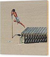 The Leap Wood Print