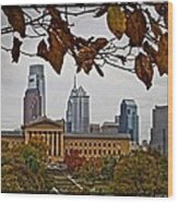 The Leaves Of Philly Wood Print