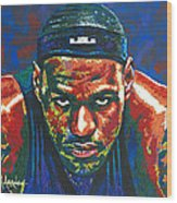 The Lebron Death Stare Wood Print