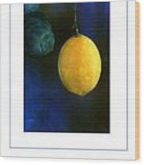 The Lemon Poster Wood Print