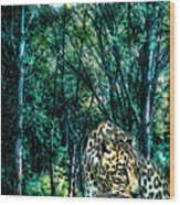 The Leopard Is Hungry Wood Print