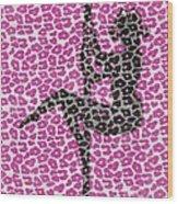 The Leopard Stripper Wood Print