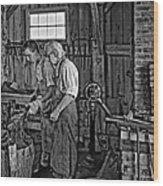 The Lesson Monochrome Wood Print by Steve Harrington