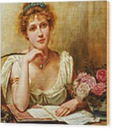 The Letter  Wood Print by George Goodwin Kilburne