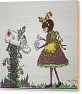 The Letter Wood Print by Mary Kay De Jesus