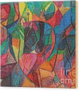 The Letter Yud Wood Print