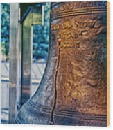 The Liberty Bell In Philadelphia Wood Print