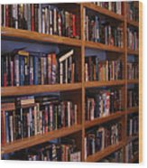 The Library Wood Print