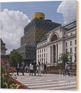 The Library Of Birmingham Wood Print