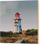 The Light At Covehead Harbour Wood Print
