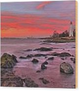 The Light House In New Haven Wood Print