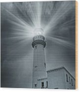 The Light House Wood Print