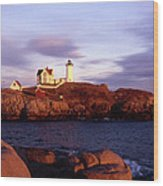 The Light On The Nubble Wood Print by Skip Willits