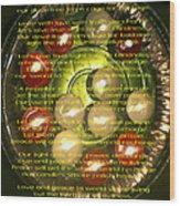 The Light Pantoum Poem Wood Print
