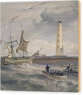 The Lighthouse At Cape Chersonese Wood Print
