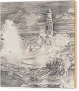 The Lighthouse Wood Print by Beverly Marshall