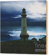 The Lighthouse Wood Print by Cinema Photography