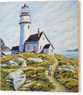 The Lighthouse Keeper Wood Print