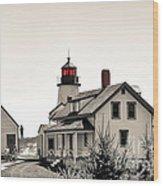 The Lightkeeper Wood Print
