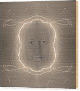 The Lightning Man Sepia Wood Print
