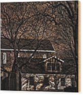 The Lights Went Out In Platte Wood Print