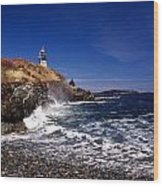 The Ligthouse At West Quoddy Wood Print