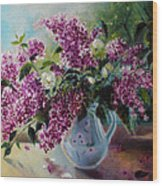The Lilac On The Window Wood Print
