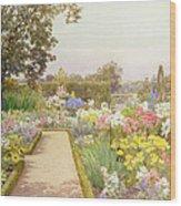 The Lily Border At Great Tangley Manor Wood Print