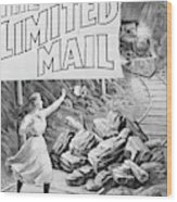 The Limited Mail, 1899 Wood Print