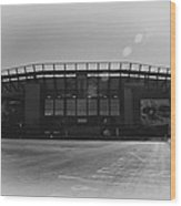 The Linc In Black And White Wood Print