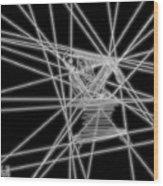 The Lines Of Martha Graham L Bw Wood Print