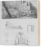 The Lion Gate At Mycenae  Represents Wood Print