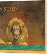 The Lion's Den... Wood Print by Will Bullas