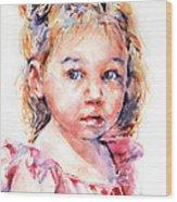 The Little Ballerina Wood Print