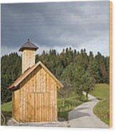The Little Chapel Wood Print