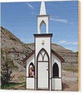 The Little Church Wood Print