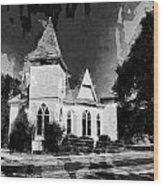 The Little Church On The Corner Wood Print