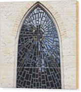 The Little Church Window Wood Print