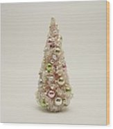The Little Pink Christmas Tree Wood Print