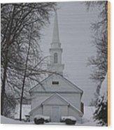The Little White Church Wood Print