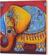 The Littlest Elephant Wood Print by Karin Taylor