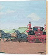 The Liverpool And London Royal Mail Coach, 1812 Oil On Canvas Wood Print