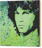 The Lizard King Wood Print by Chris Mackie