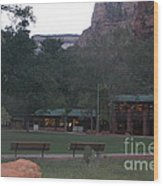 The Lodge At Zion National Park Wood Print